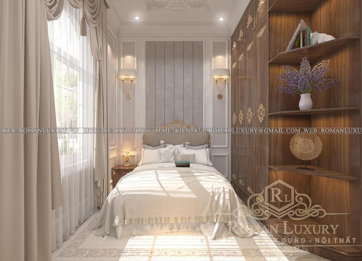 phòng ngủ biệt thự 3 tầng kiểu châu âu