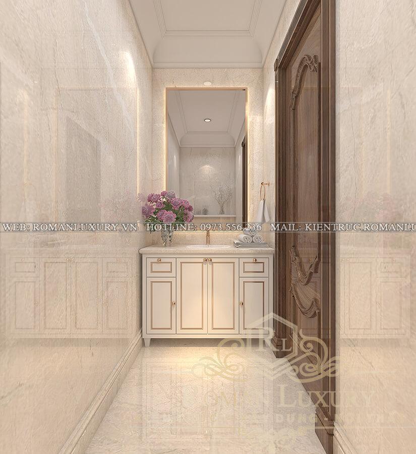 wc chung biệt thự 3 tầng kiểu châu âu