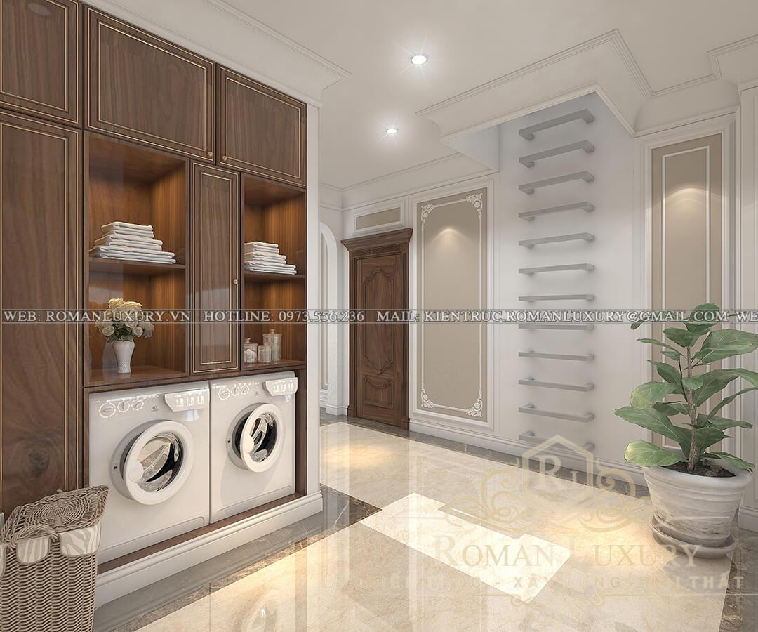 phòng giặt biệt thự 3 tầng kiểu châu âu