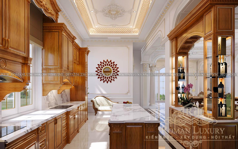 phòng bếp biệt thự cổ điển pháp