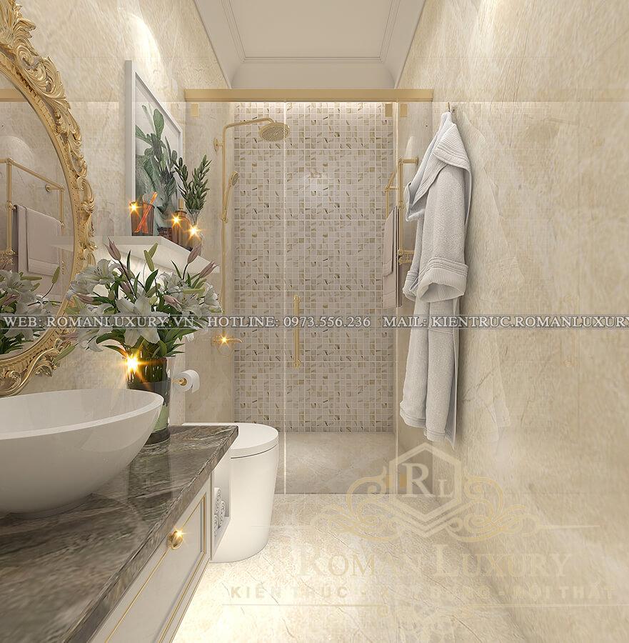 phòng tắm biệt thự cổ điển pháp