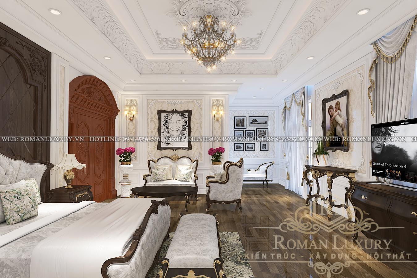 phòng ngủ biệt thự phong cách châu âu