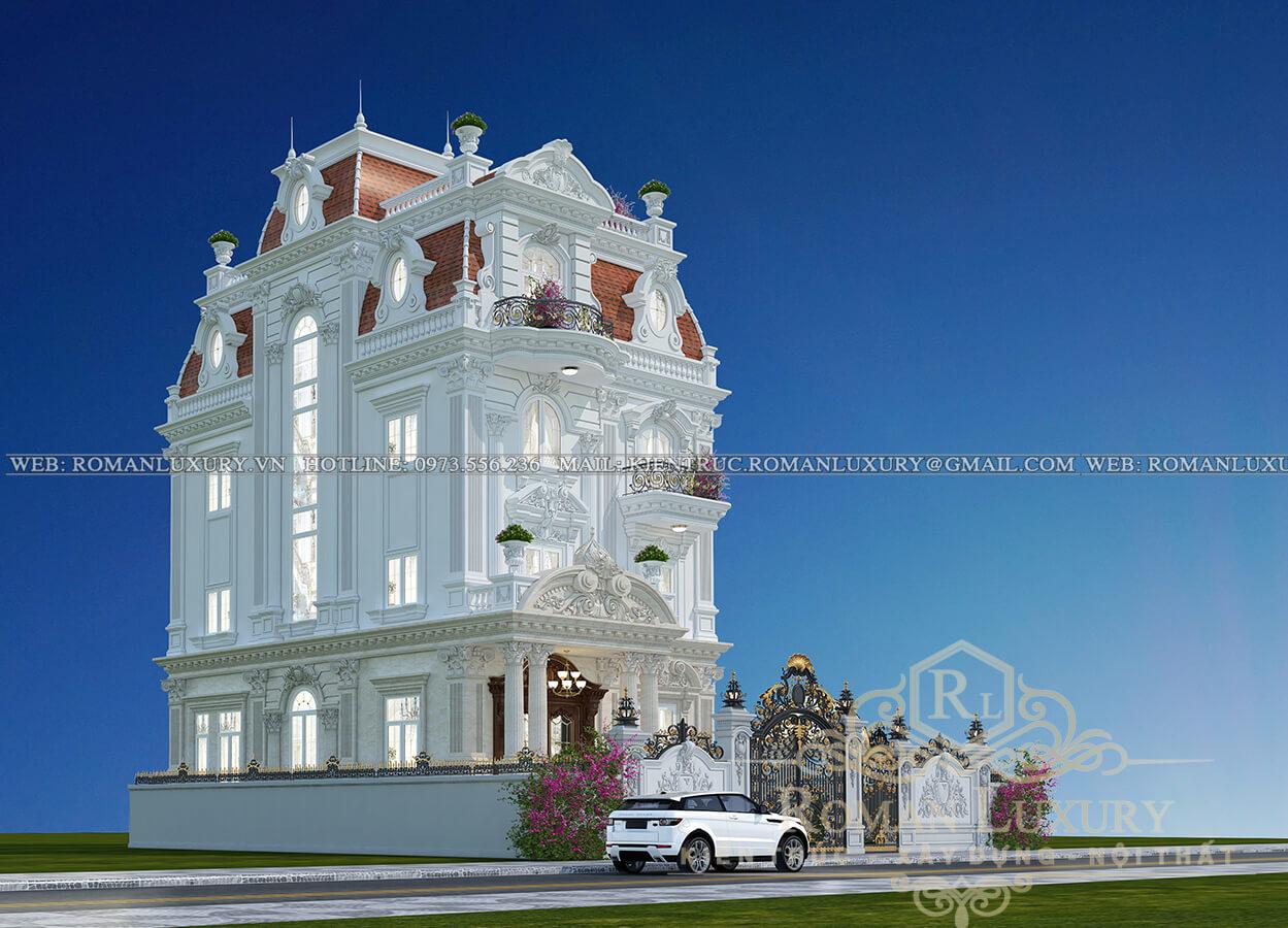 mặt tiền biệt thự kiến trúc tân cổ điển
