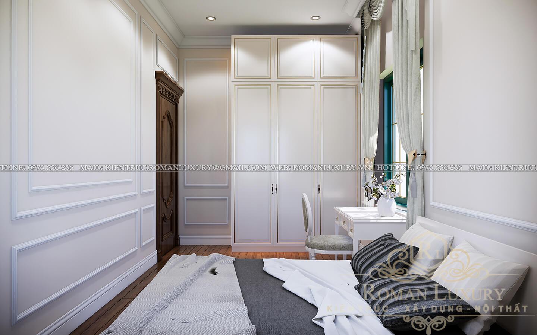 phòng ngủ giúp việc biệt thự kiến trúc tân cổ điển
