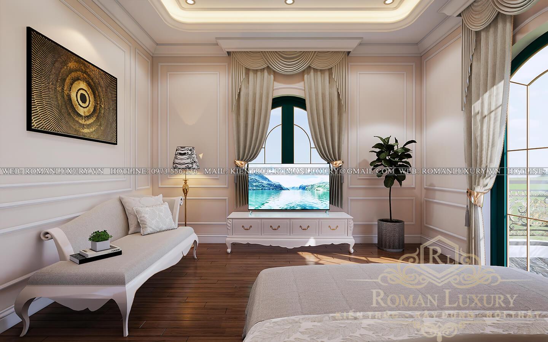 phòng ngủ biệt thự kiến trúc tân cổ điển
