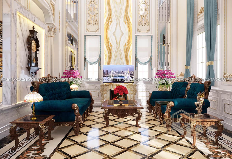 phòng khách mẫu biệt thự cổ điển đẹp