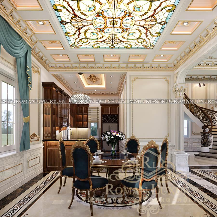 phòng bếp mẫu biệt thự cổ điển đẹp