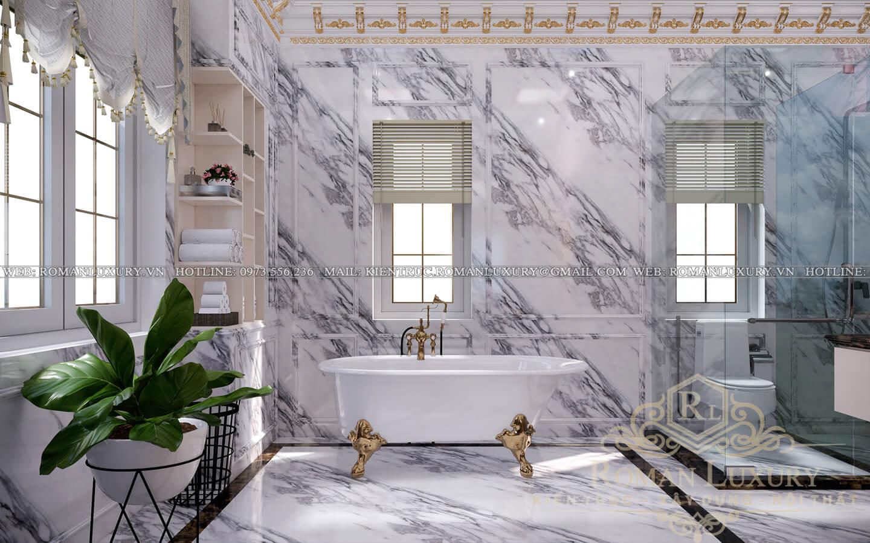 phòng tắm mẫu biệt thự cổ điển đẹp