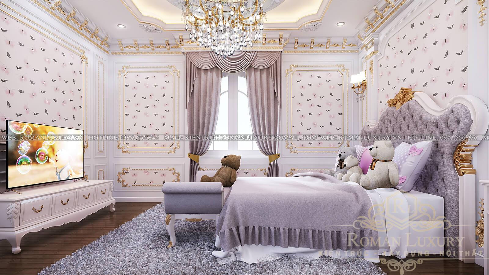 phòng ngủ mẫu biệt thự cổ điển đẹp