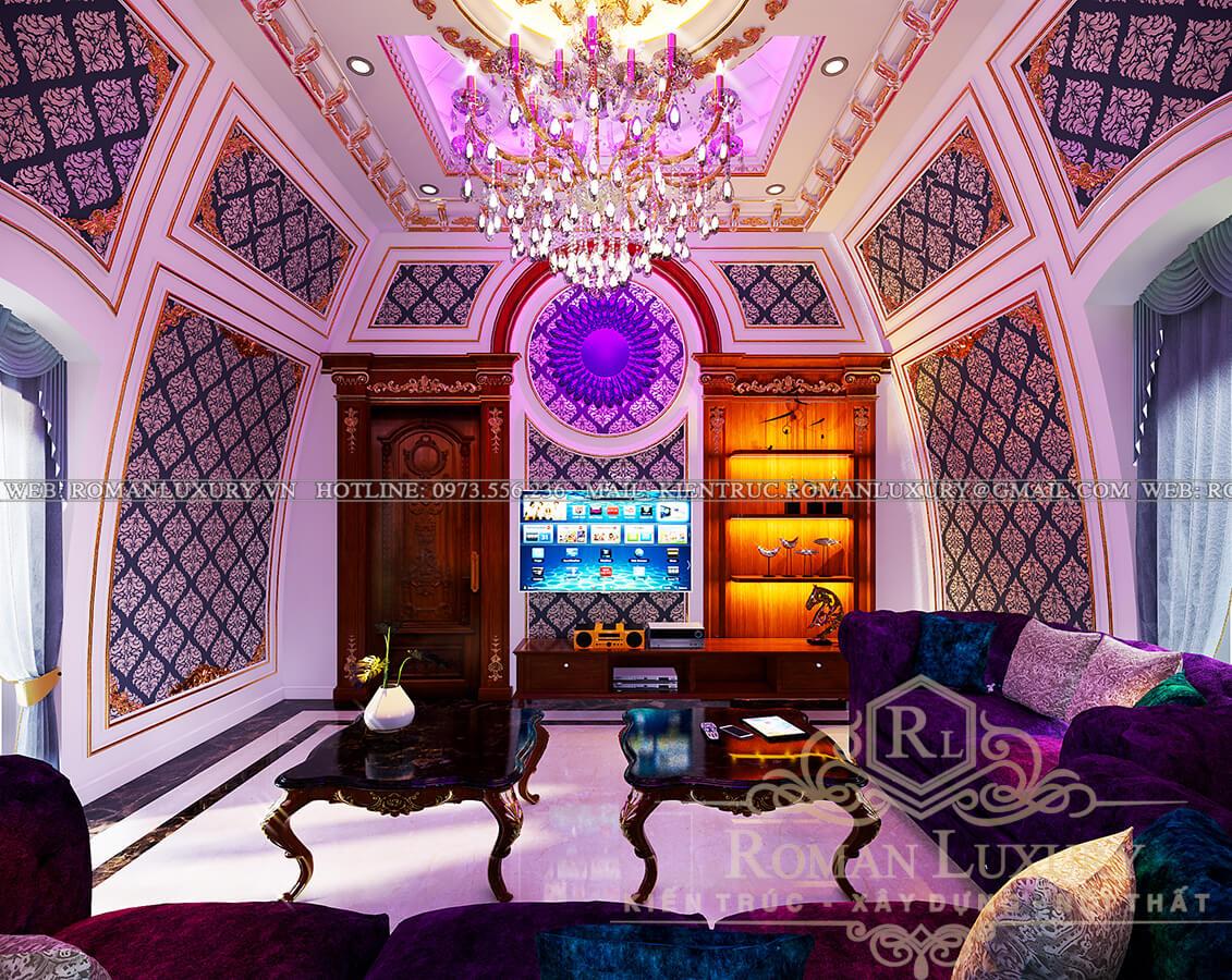 phòng giải trí mẫu biệt thự cổ điển đẹp