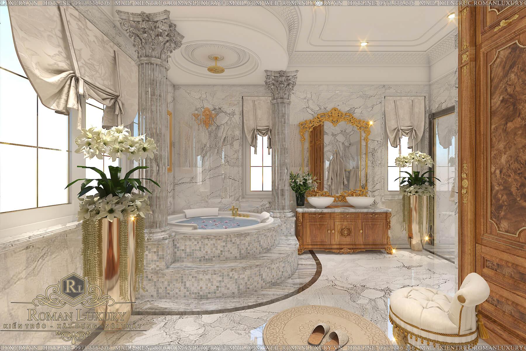 phòng tắm biệt thự tân cổ điển châu âu 12