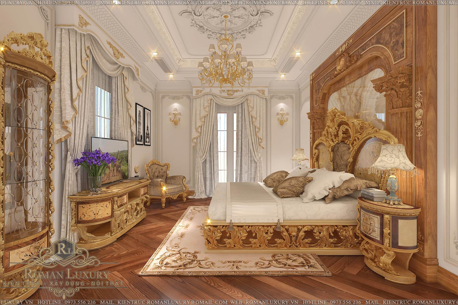 phòng ngủ biệt thự tân cổ điển châu âu 7
