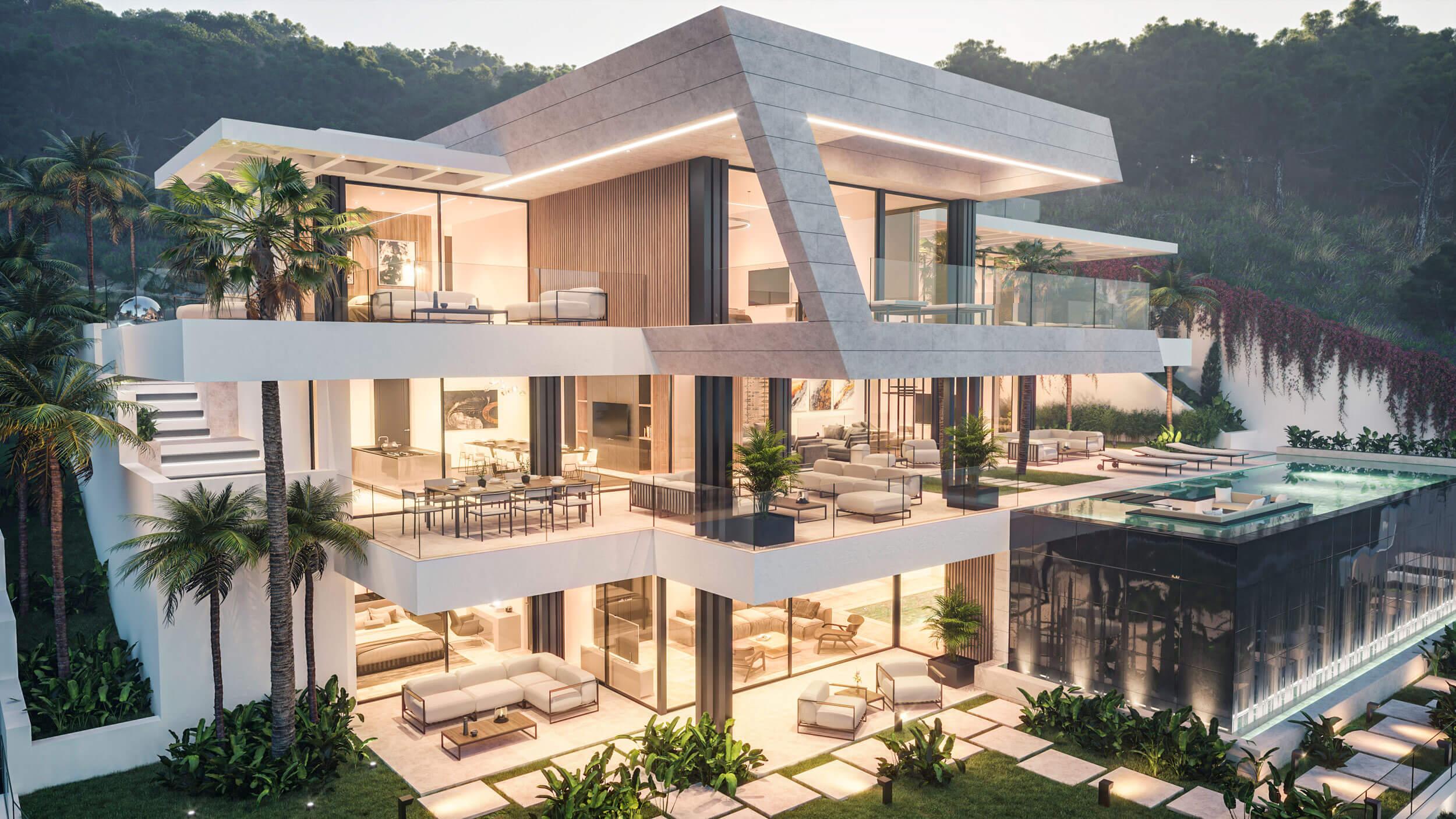 biệt thự 3 tầng có hồ bơi hiện đại đẳng cấp 3