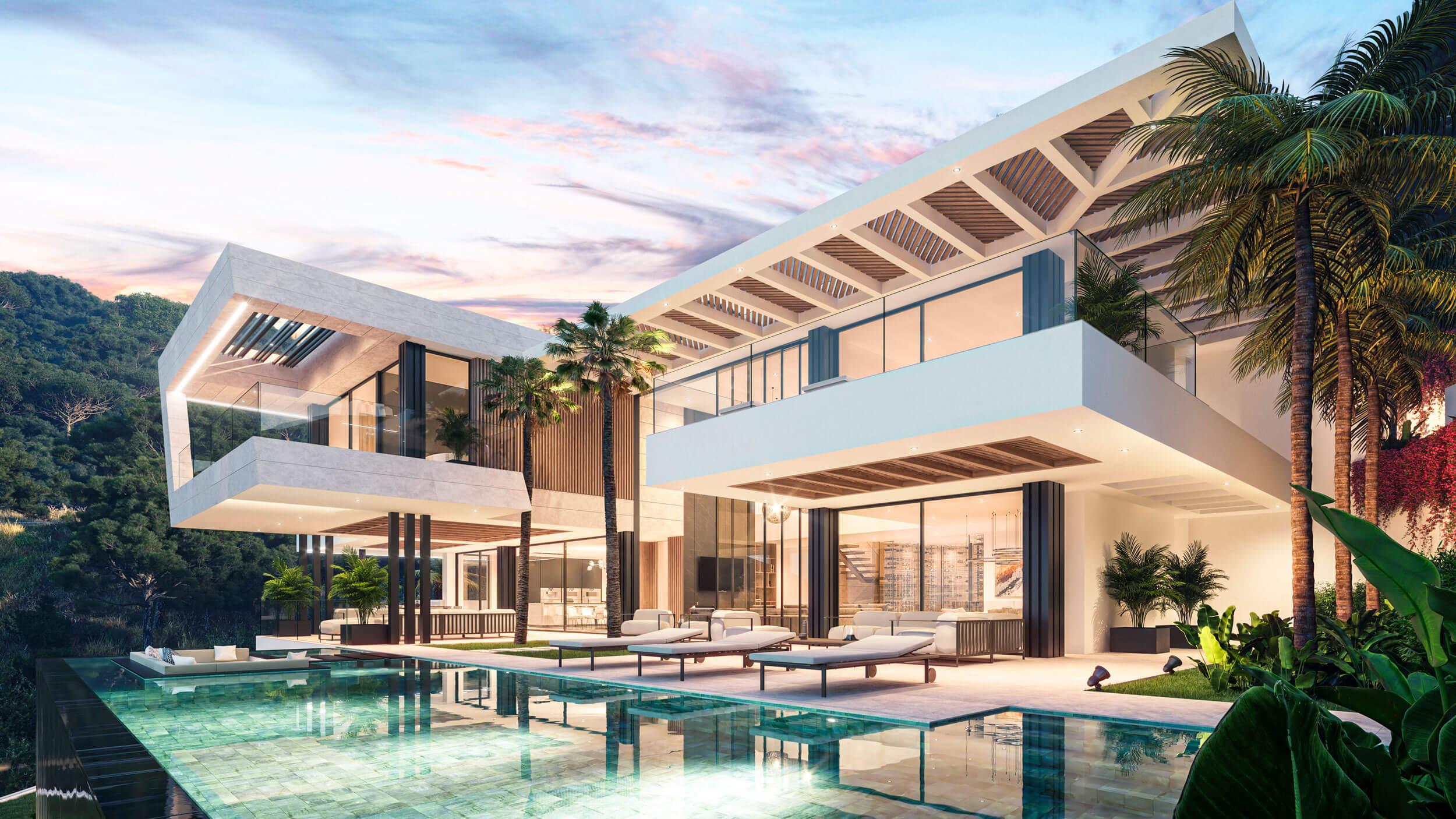 biệt thự 3 tầng có hồ bơi hiện đại đẳng cấp 7