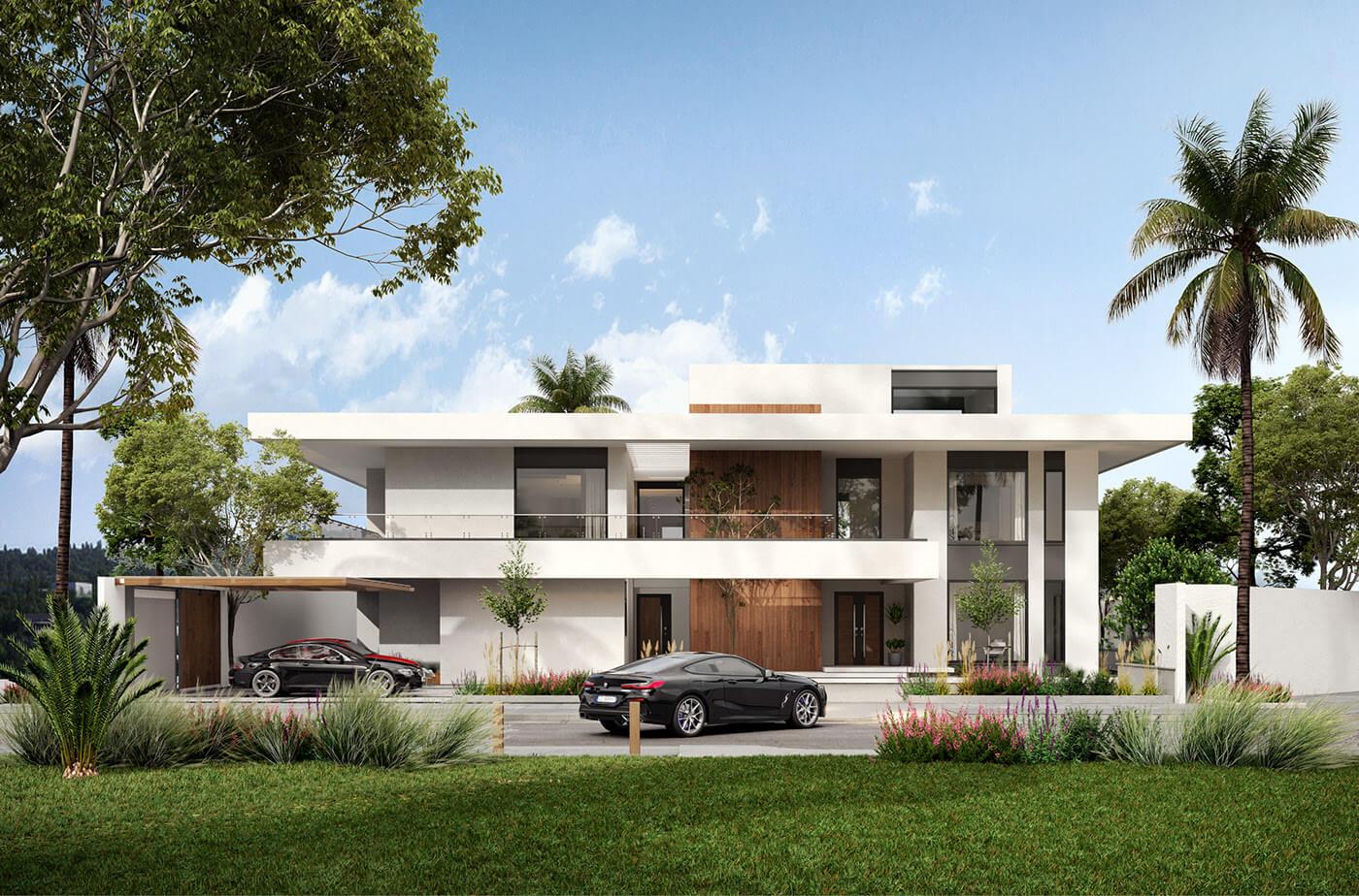 Ngắm nhìn căn nhà biệt thự 2 tầng đẹp hiện đại hình chữ L