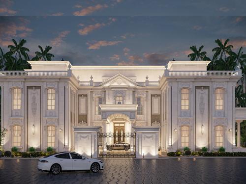 thiết kế lâu dài dinh thự cổ điển đẹp