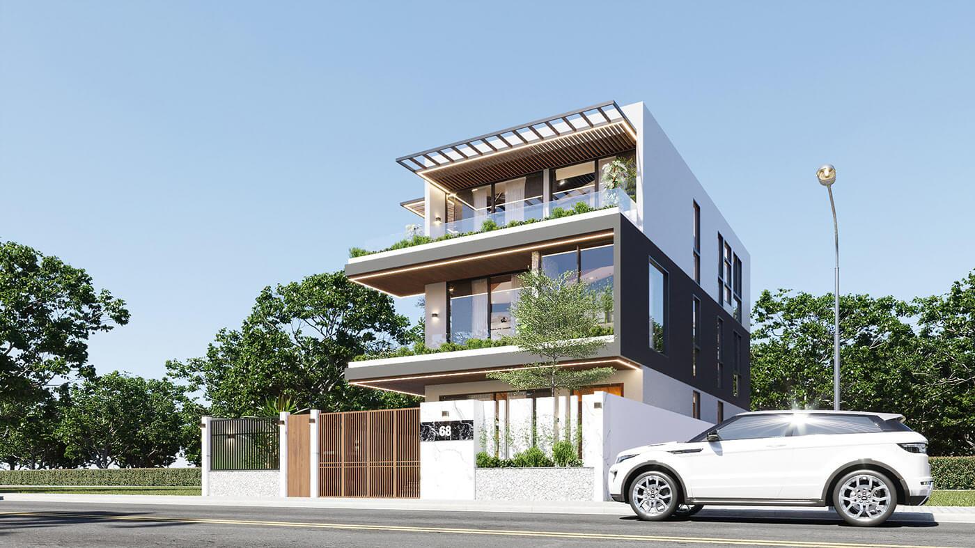 mẫu biệt thự hiện đại 3 tầng đẹp 1