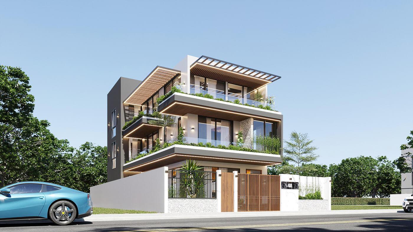 mẫu biệt thự hiện đại 3 tầng đẹp 2