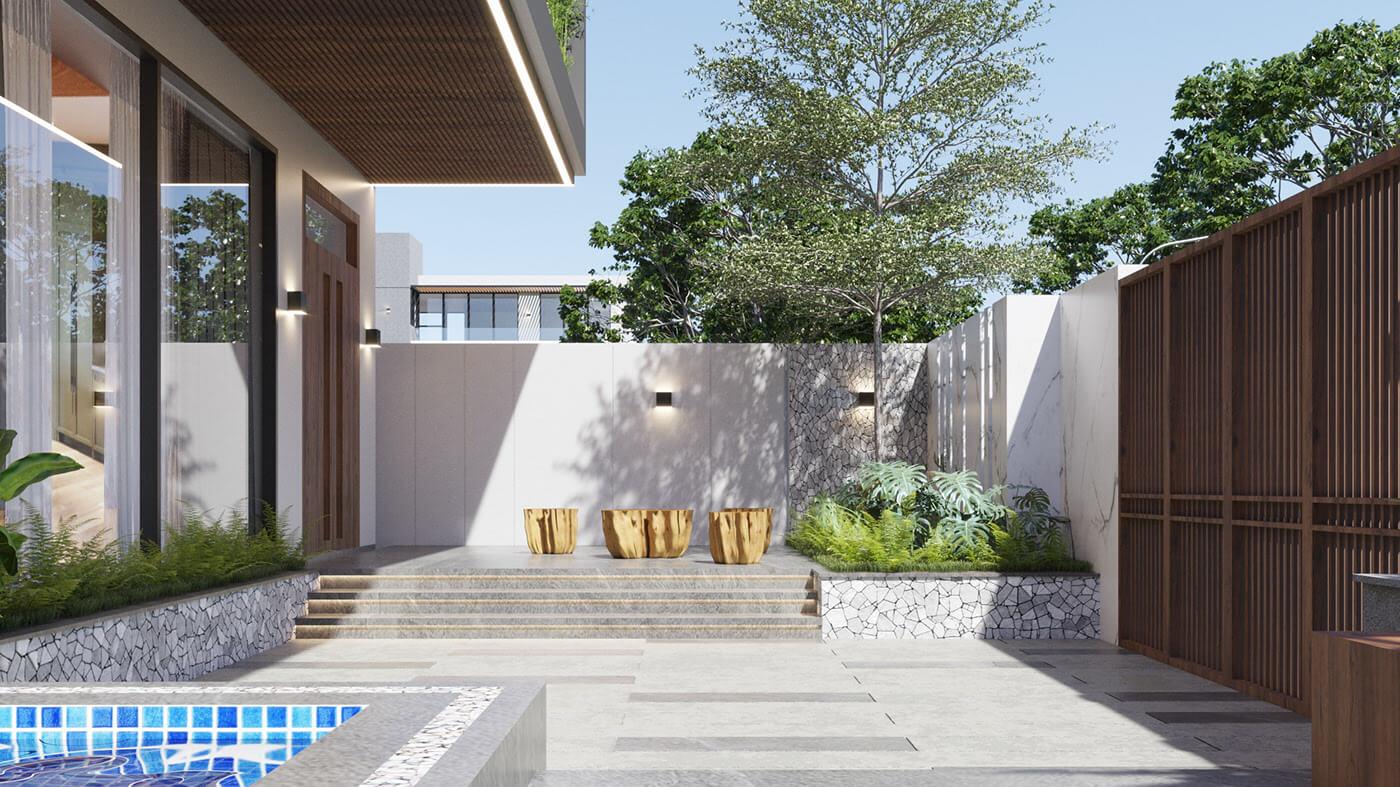 mẫu biệt thự hiện đại 3 tầng đẹp 6