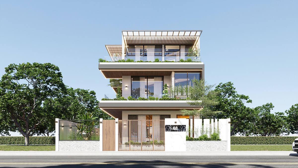 mẫu biệt thự hiện đại 3 tầng đẹp 4