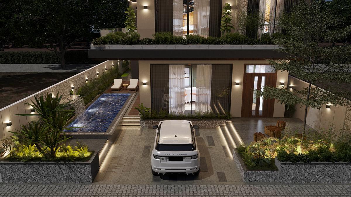 mẫu biệt thự hiện đại 3 tầng đẹp 7