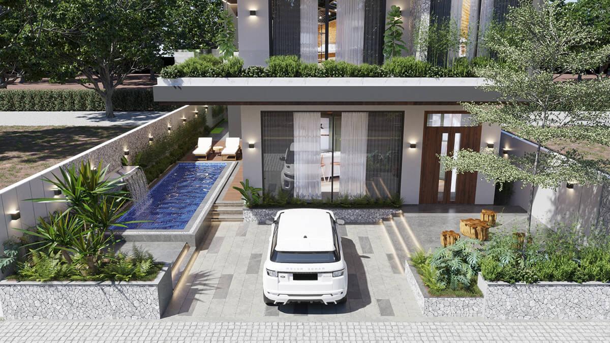 mẫu biệt thự hiện đại 3 tầng đẹp 8