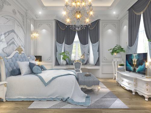 phòng ngủ cho bé tân cổ điển