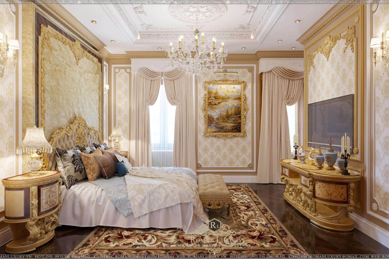 phòng ngủ biệt thự có tầng hầm
