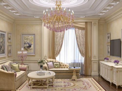 phòng khách biệt thự đẹp