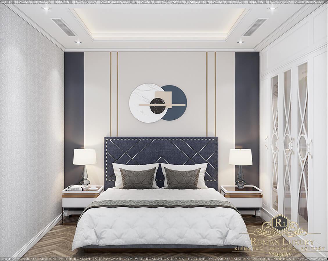 phòng ngủ biệt thự 9x15 3 tầng tân cổ điển