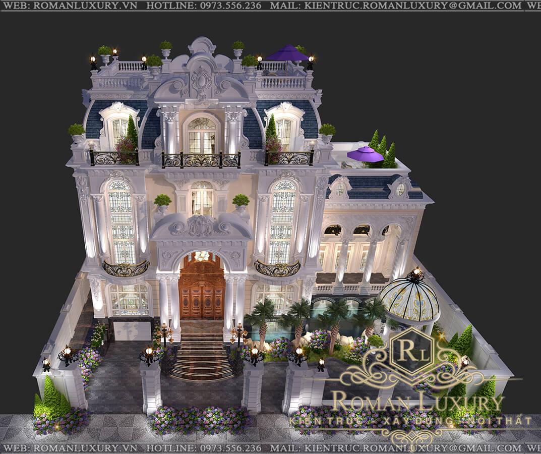thiết kế biệt thự châu âu cổ điển đẹp 4