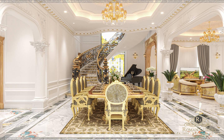 phòng ăn biệt thự vườn 2 tầng mái thái