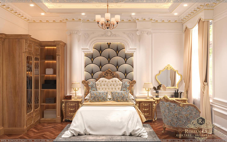 phòng ngủ ông bà biệt thự vườn 2 tầng mái thái