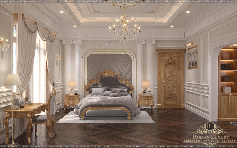 phòng ngủ master biệt thự vườn 2 tầng mái thái
