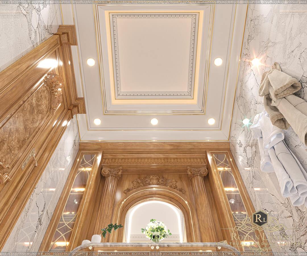 phòng thay đồ biệt thự vườn 2 tầng mái thái
