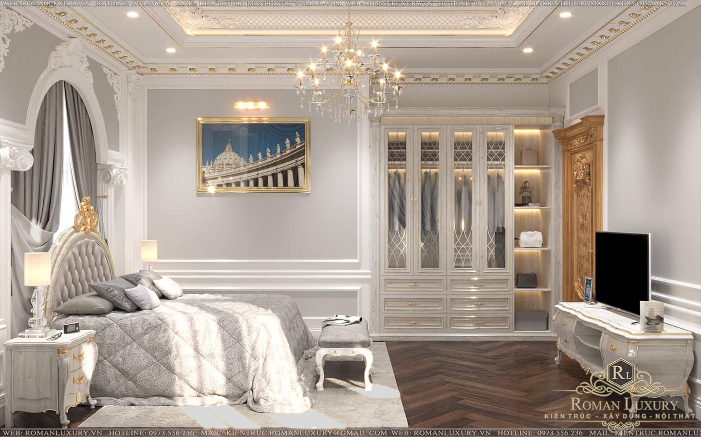 phòng ngủ con trai biệt thự vườn 2 tầng mái thái