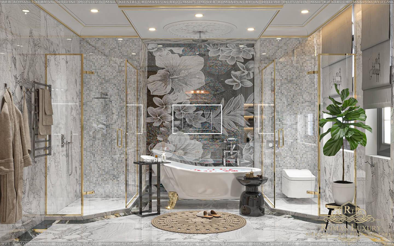 phòng tắm biệt thự vườn 2 tầng mái thái