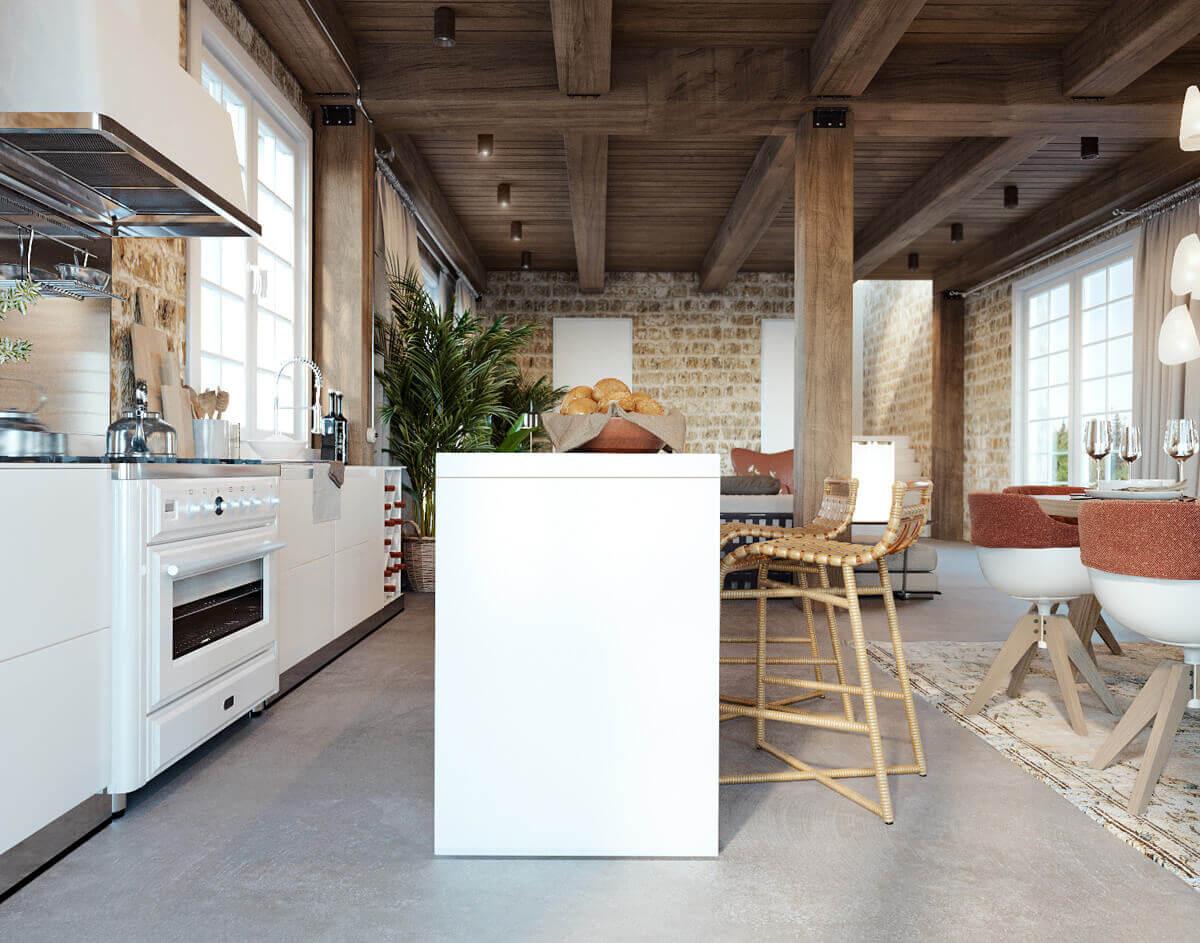 phòng bếp phong cách địa trung hải