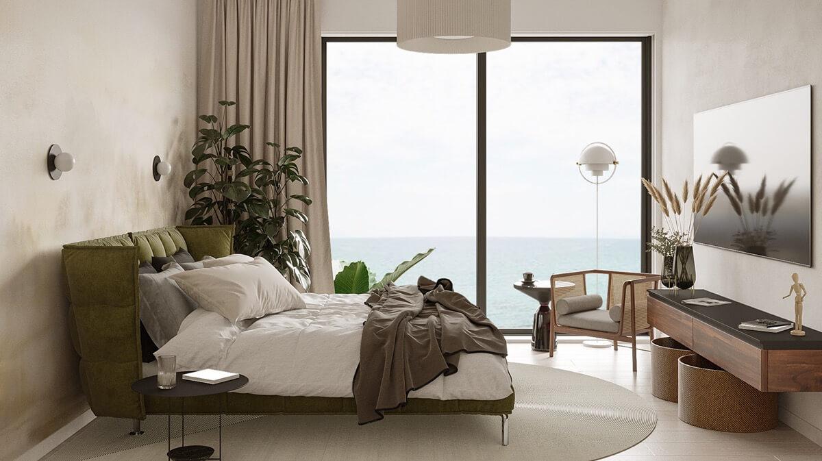 phòng ngủ phong cách địa trung hải