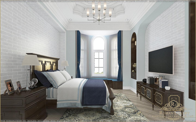 phòng ngủ ông bà biệt thự 2 tầng có sân thượng