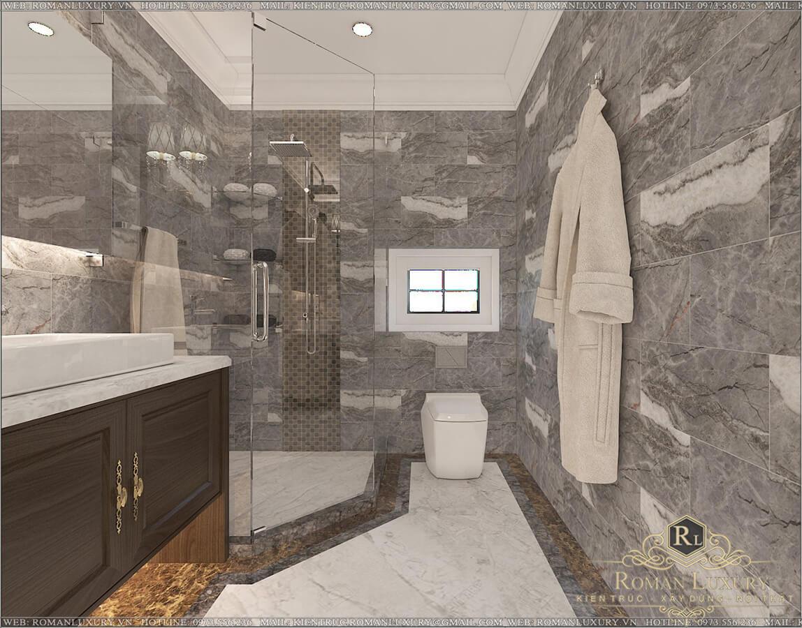 phòng tắm biệt thự 2 tầng có sân thượng