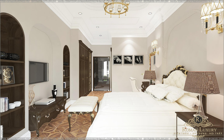 phòng ngủ biệt thự 2 tầng có sân thượng