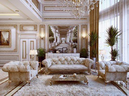 mẫu phòng khách cổ điển đẹp