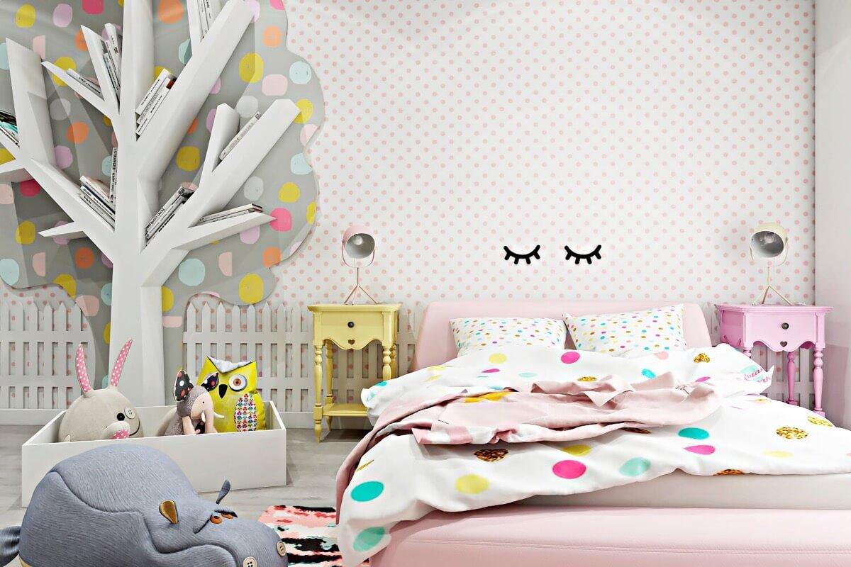 thiết kế nội thất phòng ngủ màu hồng 48