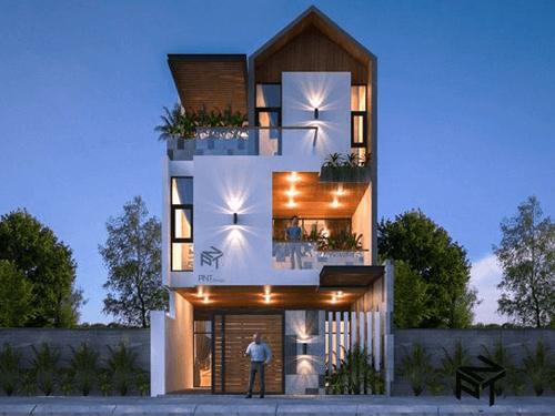 mẫu nhà 3 tầng mặt tiền 7m đẹp