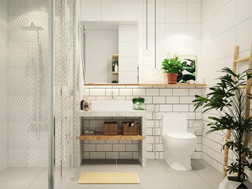 phòng tắm nhỏ đẹp nhưng tiện nghi sang trọng