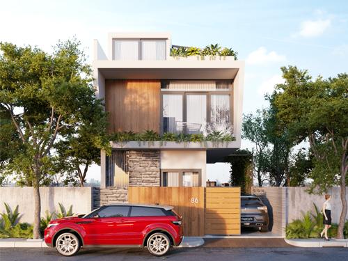 thiết kế nhà phố chiều rộng 7m